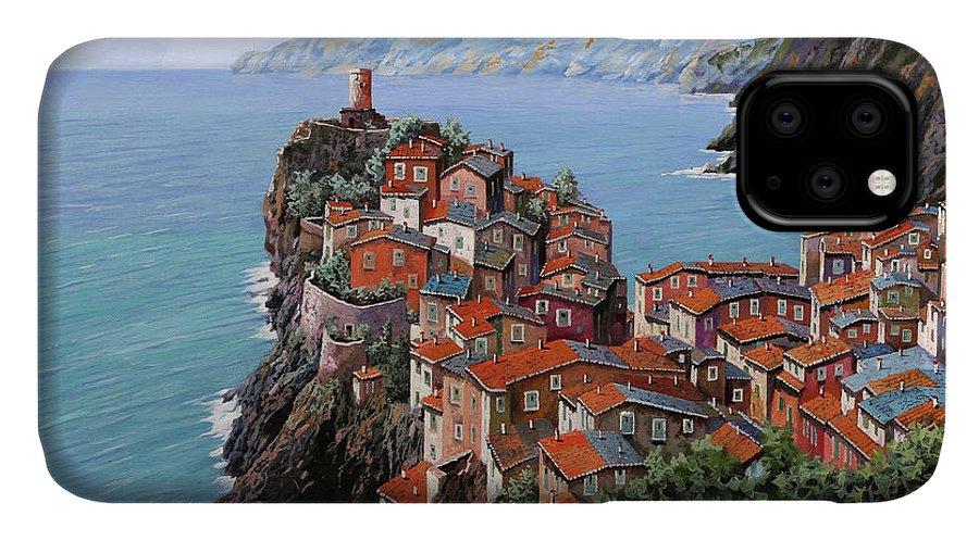 Vernazza IPhone Case featuring the painting pomeriggio a Bellagio anzi a Vernazza by Guido Borelli