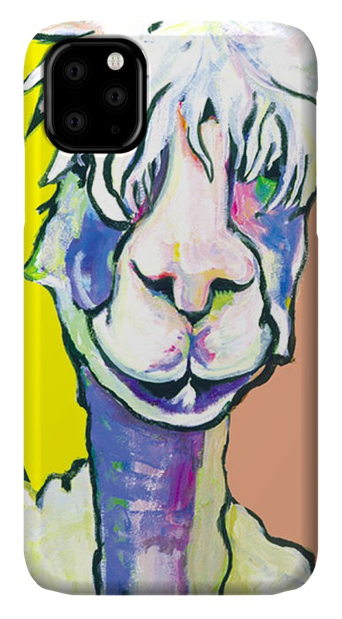 Mountain Animal IPhone Case featuring the painting Veronica by Pat Saunders-White