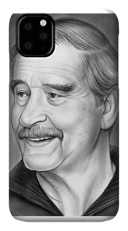 Vicente Fox IPhone Case featuring the drawing Vicente Fox by Greg Joens