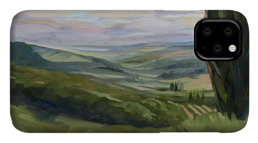Landscape IPhone Case featuring the painting View from Sienna by Jay Johnson