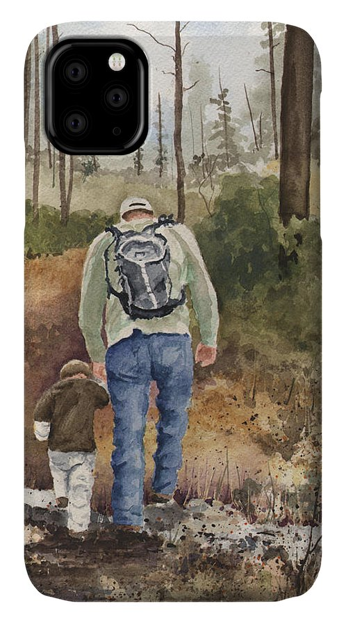 Walk IPhone Case featuring the painting Vince and Sam by Sam Sidders