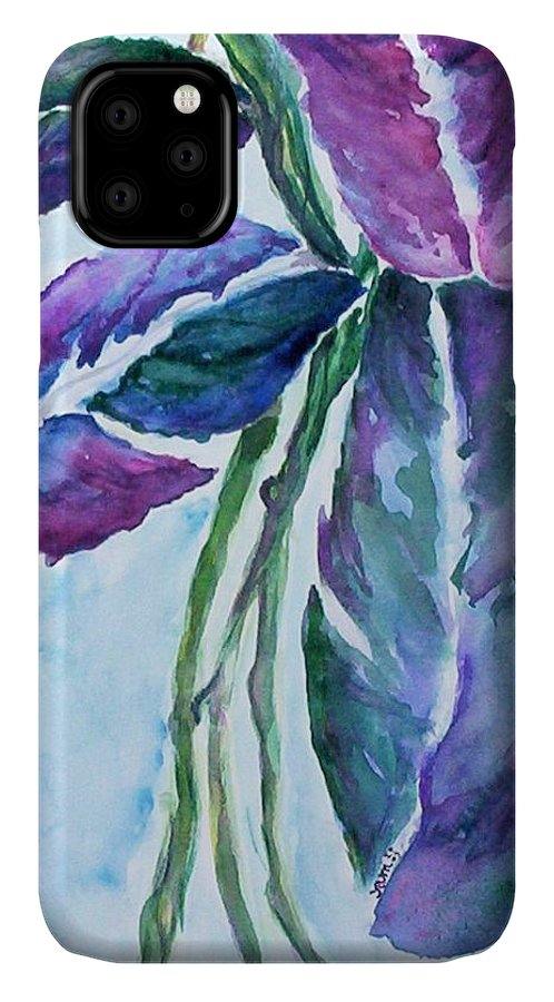 Landscape IPhone Case featuring the painting Vine by Suzanne Udell Levinger