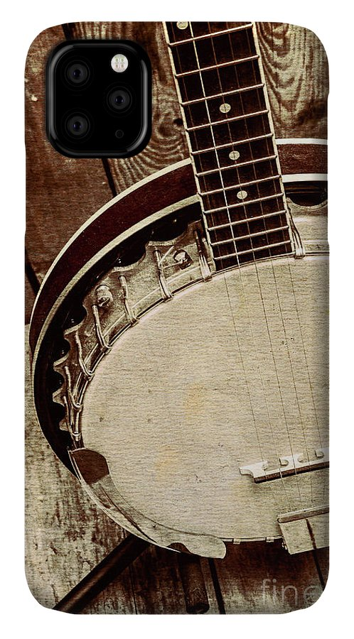 String IPhone Case featuring the photograph Vintage Banjo Barn Dance by Jorgo Photography - Wall Art Gallery