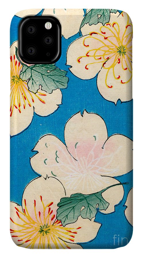 Flower IPhone Case featuring the painting Vintage Japanese Illustration Of Dogwood Blossoms by Japanese School
