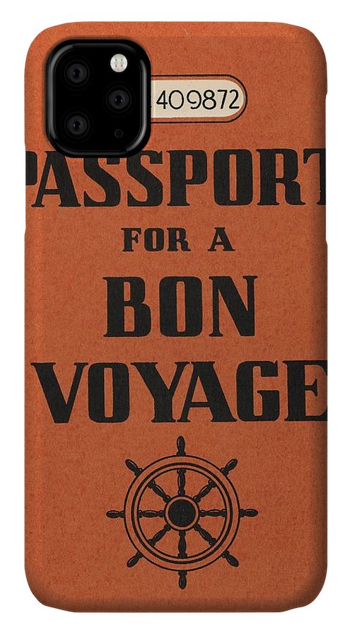 1930s IPhone 11 Case featuring the photograph Vintage Passport by Gillham Studios