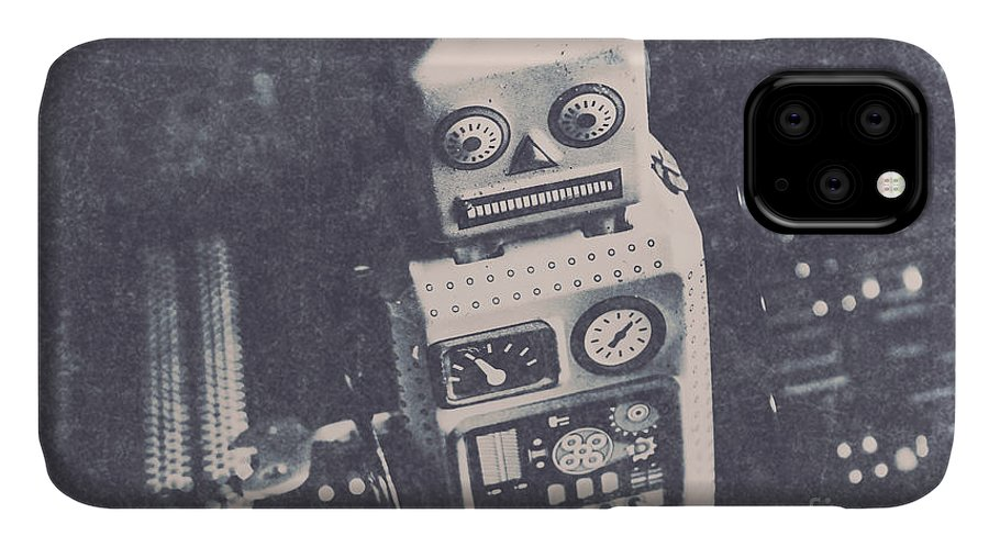 Old IPhone Case featuring the photograph Vintage Robot Toy by Jorgo Photography - Wall Art Gallery