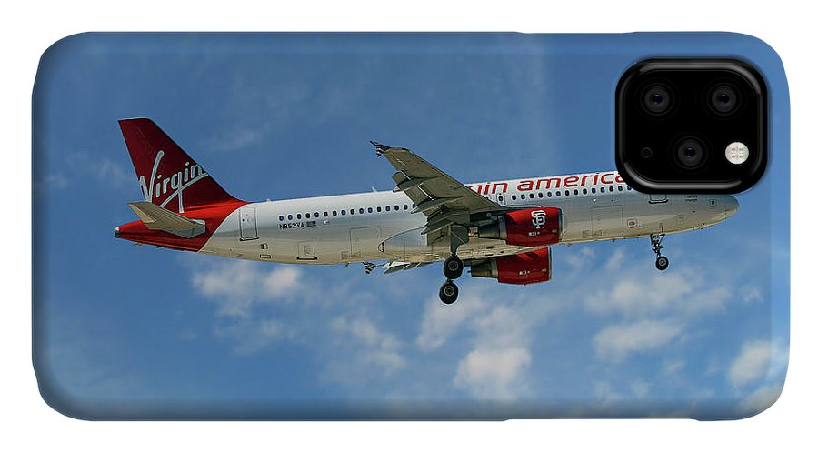 Virgin America IPhone 11 Case featuring the photograph Virgin America Airbus A320-214 by Smart Aviation