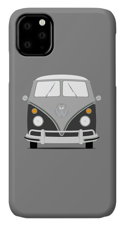 Volkswagen IPhone 11 Case featuring the photograph Vw Bus Grey by Mark Rogan