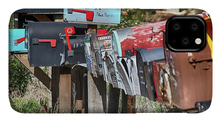 Mailboxes IPhone Case featuring the photograph Waiting For The Mail by Marie Leslie