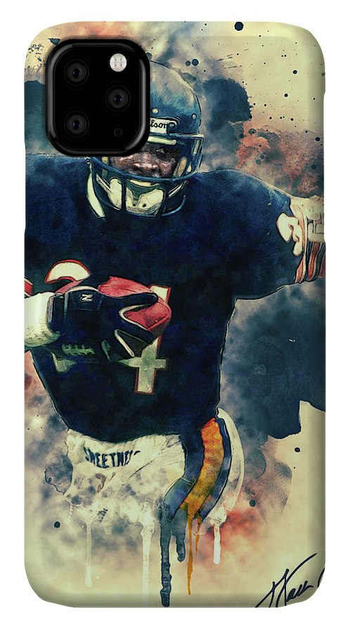 Walter Payton IPhone Case featuring the painting Walter Payton by Zapista OU