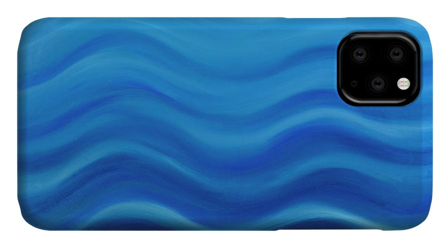 Water IPhone Case featuring the painting Water by Adamantini Feng shui
