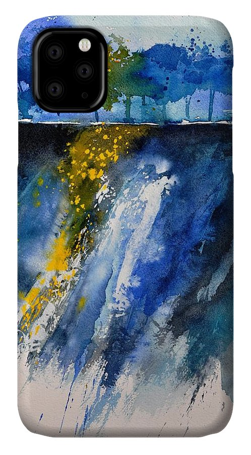 Abstract IPhone Case featuring the painting Watercolor 119001 by Pol Ledent