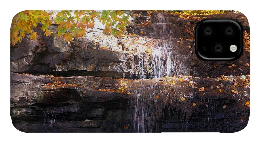Waterfall IPhone Case featuring the photograph Waterfall in Creve Coeur by John Lautermilch