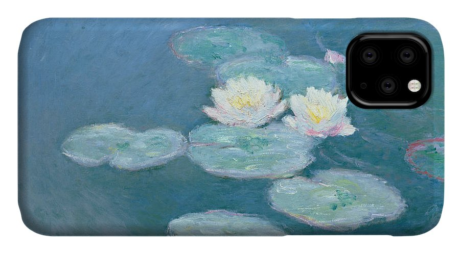Waterlilies IPhone Case featuring the painting Waterlilies Evening by Claude Monet