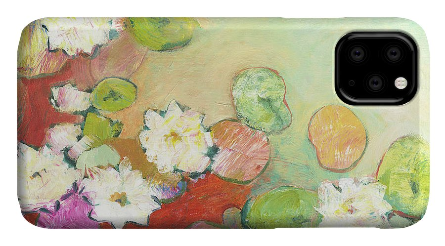 Lilly IPhone Case featuring the painting Waterlillies At Dusk No 2 by Jennifer Lommers