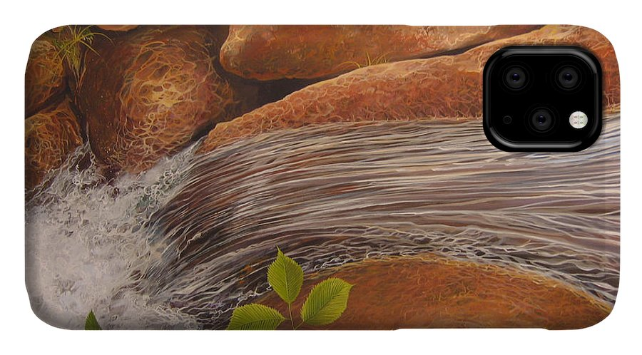 Water IPhone 11 Case featuring the painting Water's Edge by Hunter Jay