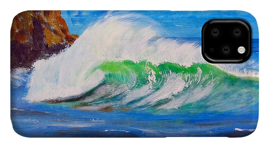 Waves IPhone 11 Case featuring the painting Waves by Richard Le Page