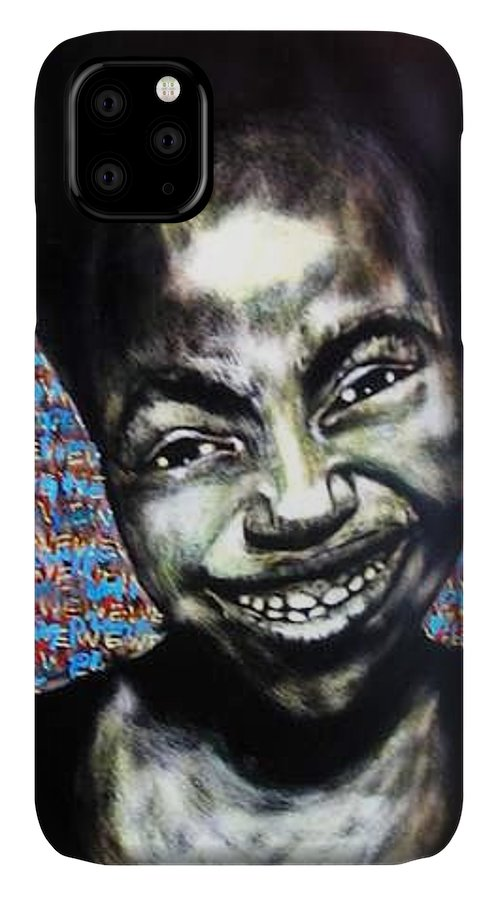 IPhone Case featuring the mixed media We Play by Chester Elmore