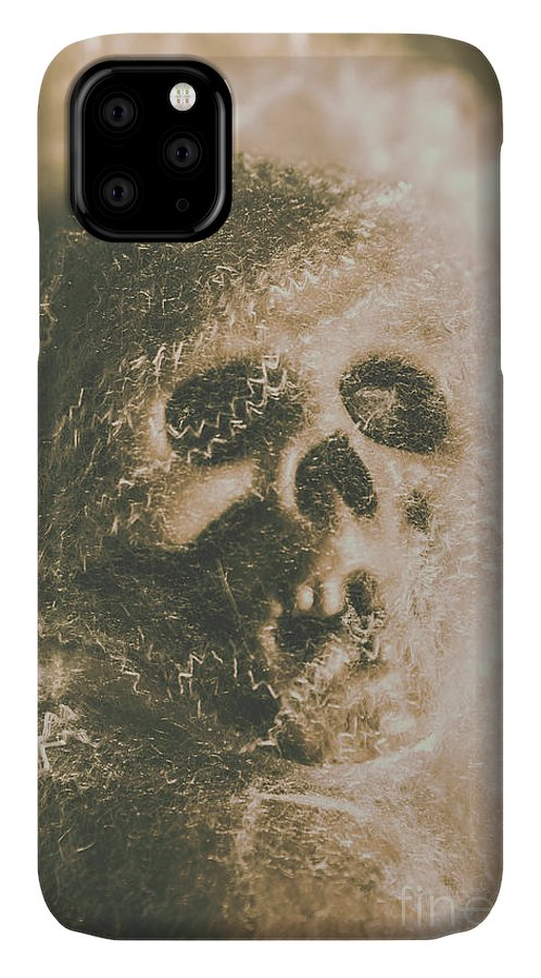 Bone IPhone 11 Case featuring the photograph Webs And Dead Heads by Jorgo Photography - Wall Art Gallery