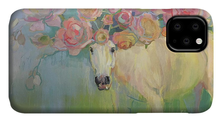 Pony IPhone 11 Case featuring the painting Welsh P-e-ony by Kimberly Santini
