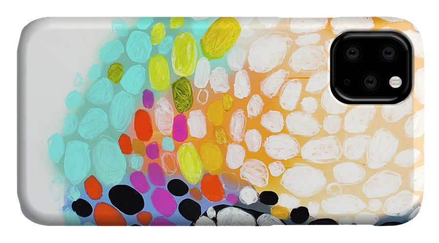 Abstract IPhone 11 Case featuring the painting When You Get Home by Claire Desjardins