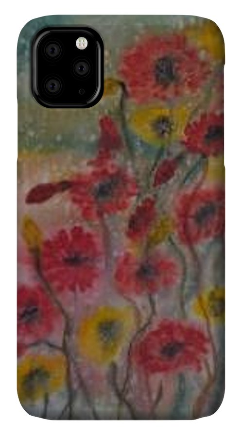 Watercolor IPhone Case featuring the painting WILDFLOWERS still life modern print by Derek Mccrea