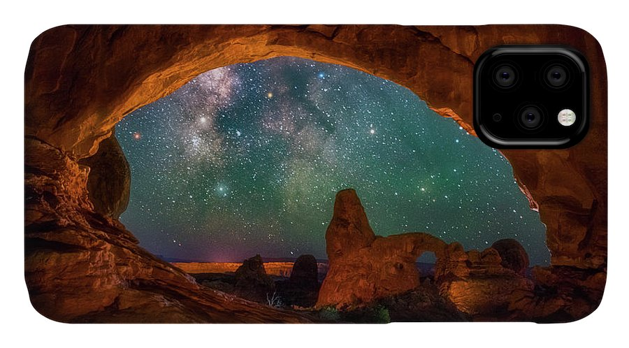 Night Sky IPhone Case featuring the photograph Window To The Heavens by Darren White