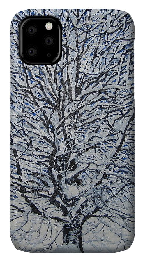 Winter IPhone Case featuring the painting Winter '05 by Leah Tomaino