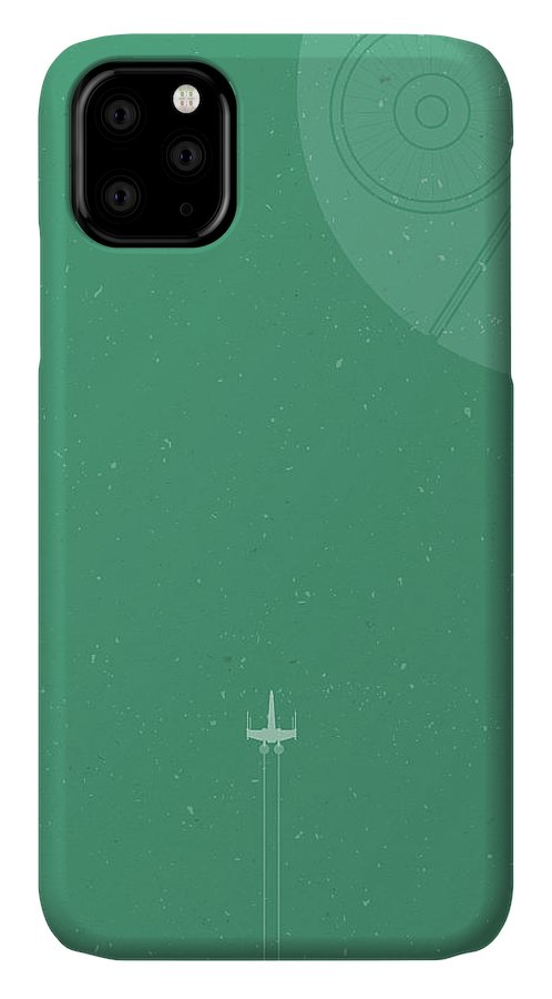 X-wing IPhone 11 Case featuring the photograph X-wing Meets Death Star by Samuel Whitton