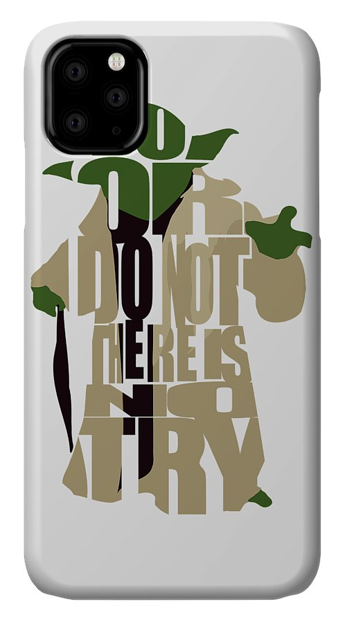 Yoda IPhone Case featuring the digital art Yoda - Star Wars by Inspirowl Design
