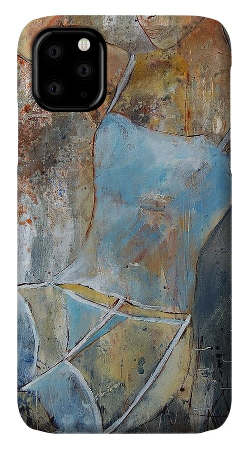 Nude IPhone Case featuring the painting Young Girl 451108 by Pol Ledent