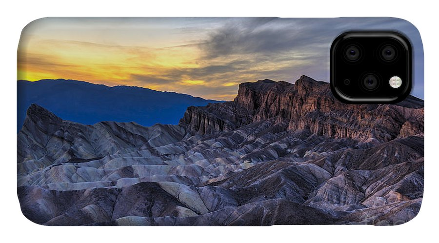 Adventure IPhone Case featuring the photograph Zabriskie Point Sunset by Charles Dobbs