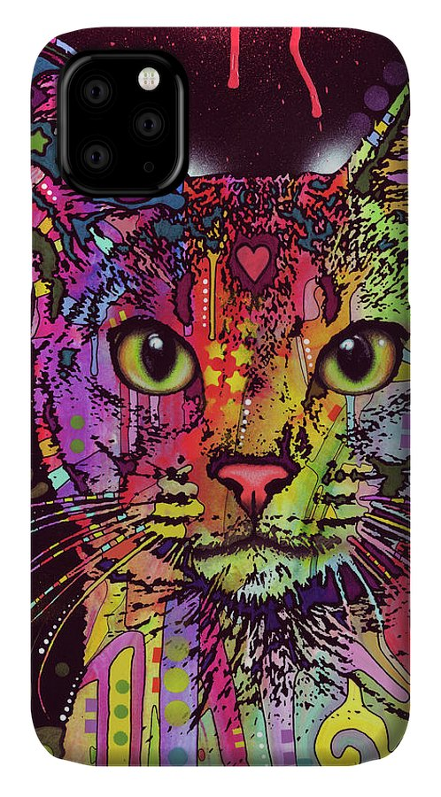 Abyssinian IPhone Case featuring the mixed media Abyssinian by Dean Russo