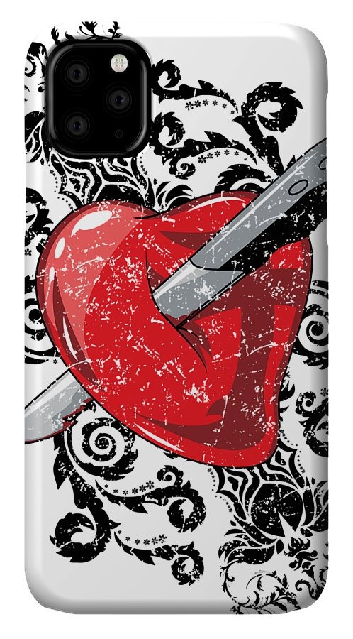 Halloween IPhone Case featuring the digital art Anti Valentines Day by Passion Loft
