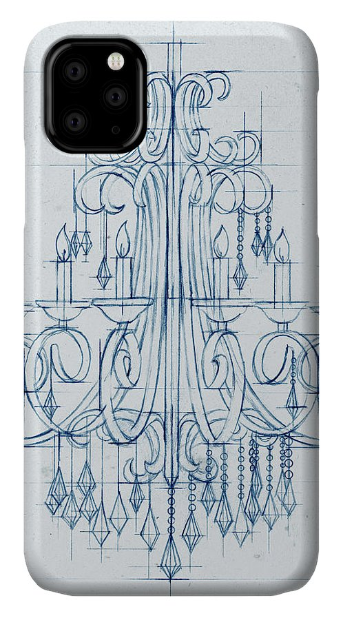 Decorative IPhone Case featuring the painting Chandelier Draft II by Ethan Harper