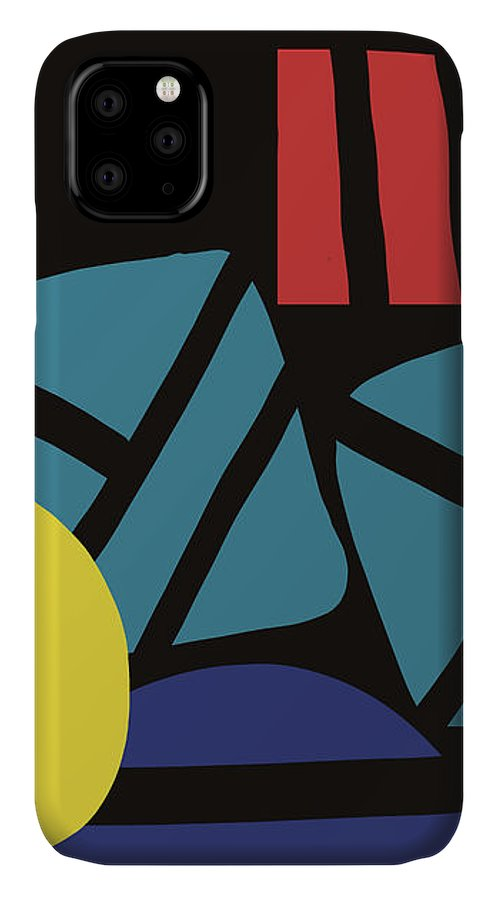 Abstract IPhone Case featuring the digital art Colorful Bento 3- Art By Linda Woods by Linda Woods