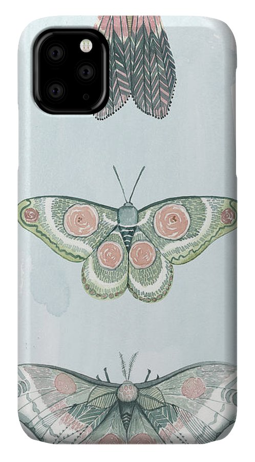 Animals & Nature+butterflies & Bees IPhone Case featuring the painting Jeweled Fairies I by Grace Popp