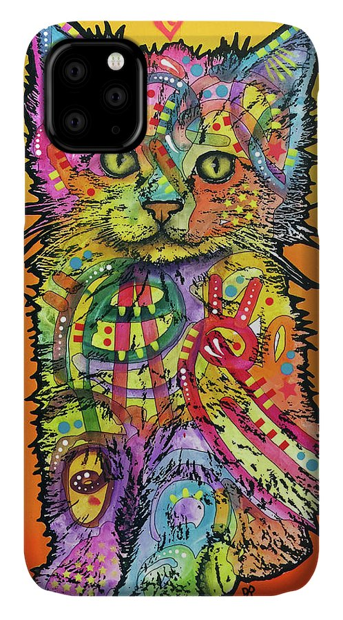 Love Kitten IPhone Case featuring the mixed media Love Kitten by Dean Russo