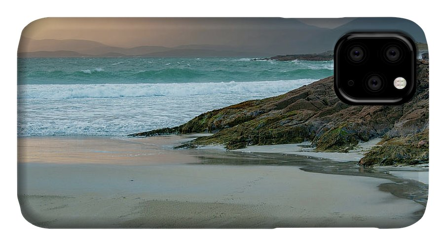 Luskentyre Beach IPhone 11 Case featuring the mixed media Luskentyre Beach by Smart Aviation