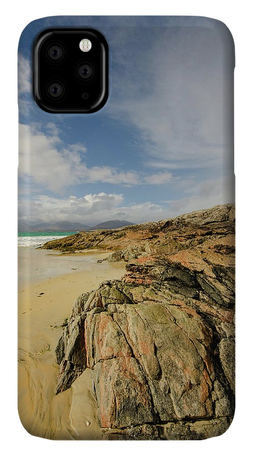 Luskentyre Beach IPhone 11 Case featuring the mixed media Luskentyre by Smart Aviation