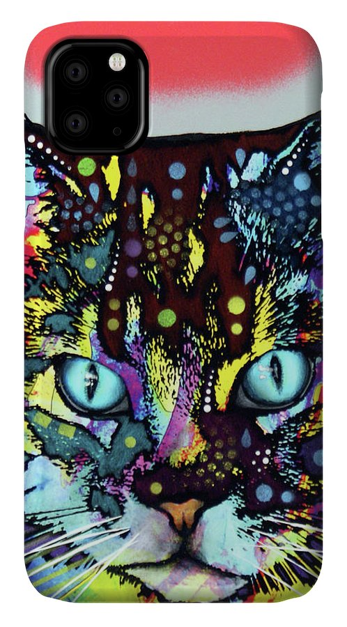 Maine Coon IPhone Case featuring the mixed media Maine Coon by Dean Russo