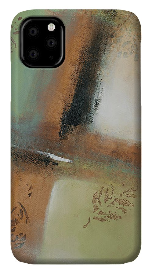 Abstract IPhone Case featuring the painting Misty Morning I by Lanie Loreth