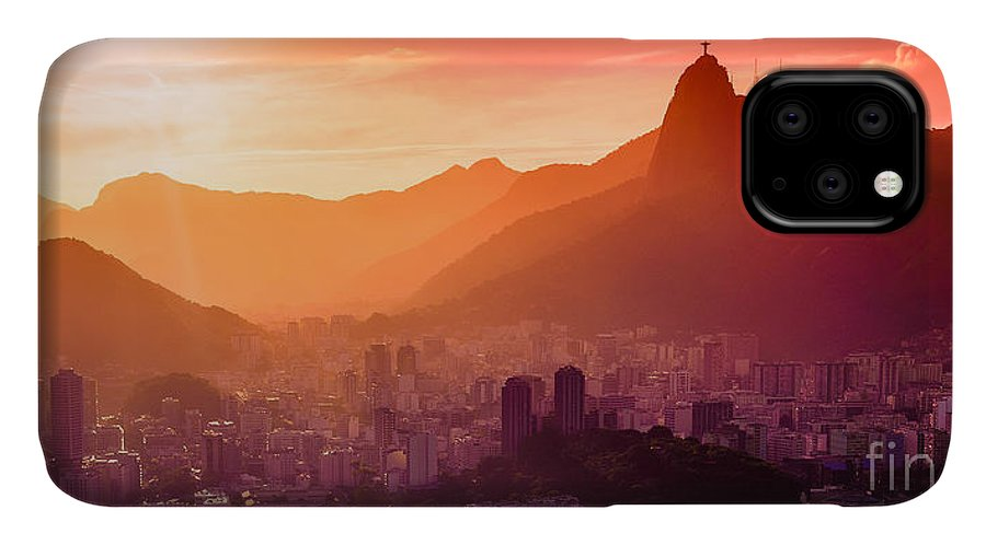 City IPhone Case featuring the photograph Christ The Redeemer by Celso Diniz