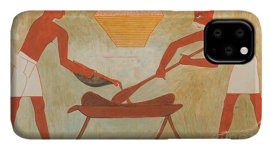 Frieze IPhone Case featuring the photograph Egyptian Tomb Scene by Metropolitan Museum Of Art/science Photo Library