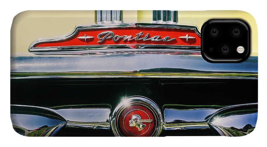 Vehicle IPhone 11 Case featuring the photograph 1953 Pontiac Grille by Scott Norris