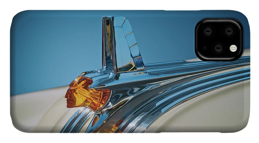 Vehicle IPhone Case featuring the photograph 1953 Pontiac Hood Ornament by Scott Norris