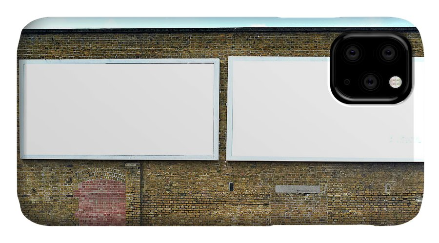 Empty IPhone Case featuring the photograph 2 Blank Billboards by Ben Richardson