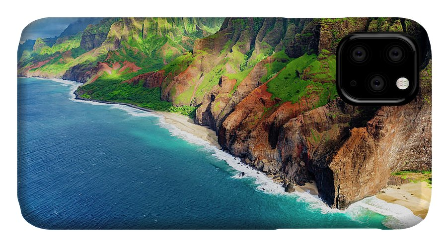 Abandoned IPhone Case featuring the photograph Honopu Arch And Honopu Beach On The Na by Russ Bishop