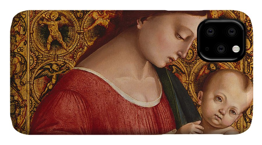 16th Century Art IPhone 11 Case featuring the painting Madonna And Child by Luca Signorelli