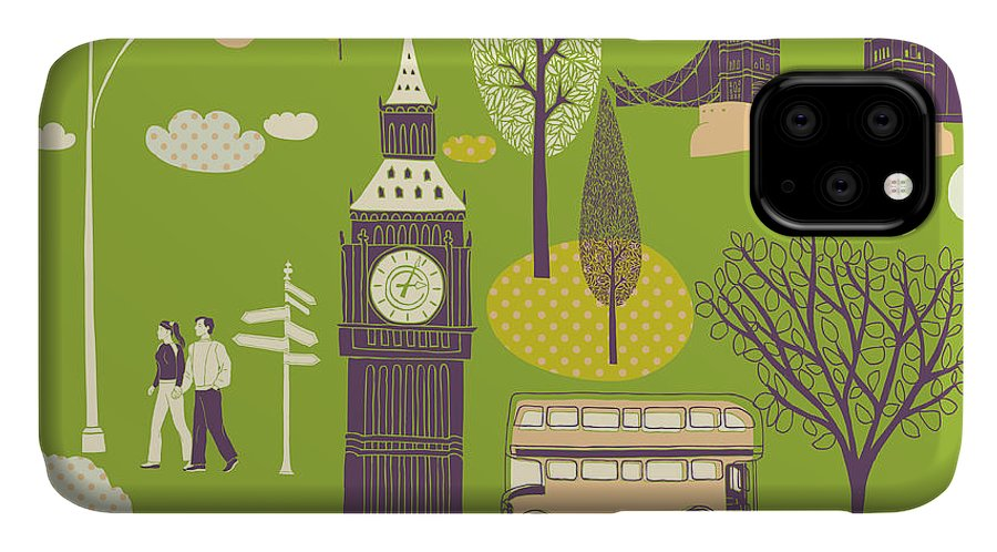 Love IPhone Case featuring the digital art Vector London Symbols by Lavandaart